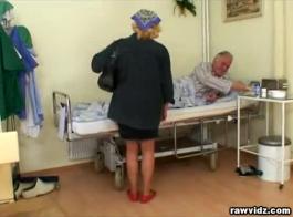 ممرضة سيئة ممارسة الجنس مع السيد النهار في مكتبه