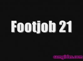 صنم القدم امرأة سمراء # 5