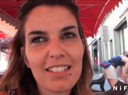 يظهر الهواة الفرنسية فاتنة الشباب قبالة الحمار غرامة